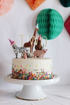 """I can't believe that my sweet Emery is TWO! I had the most fun planning her birthday party this year with the theme, """"party animals""""! I couldn't have thought up a better one…"""