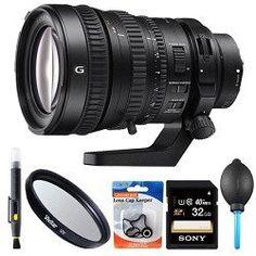 Sony 28-135mm FE PZ F4 G OSS Full-frame E-mount Power Zoom Lens 32GB Bundle