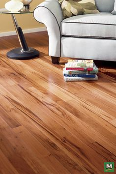 For an upscale, contemporary feeling, try Great Lakes Wood Floors Natural Tigerwood Engineered Hardwood Flooring! Available in random board lengths, this hardwood flooring offers beautiful coloration and striking woodgrain patterns. Wide Plank Flooring, Engineered Hardwood Flooring, Refinishing Hardwood Floors, Floor Refinishing, Flooring Options, Flooring Ideas, Hardwood Floor Colors, Floor Stain, Real Wood Floors