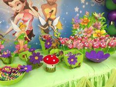 "Photo 24 of Tinkerbell & Fairies / Birthday ""Dhabya party"" Tinkerbell Fairies, Tinkerbell Party, Tangled Party, Fairy Birthday Party, 6th Birthday Parties, Princess Birthday, 3rd Birthday, Birthday Ideas, Tinker Bell"