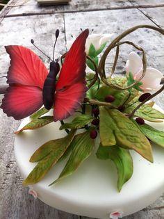 Gumpaste butterfly.