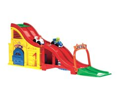 Fisher-Price Little People Rev and Sounds Race Track: Amazon.co.uk: Toys & Games