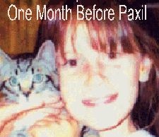 Eight months after being prescribed Paxil [Seroxat or paroxetine] this little girlhung herself. She was 12 years old. http://www.drugawareness.org/recentcasesblog/kara-jane-otter-12-pics-before-and-after-paxil-glaxosmithkline-what-have-you-done