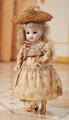 German All-Bisque Doll by Kestner, Model 102, with Yellow Boots 1100/1600