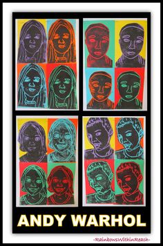 Andy Warhol Printmaking Self-Portraits at RainbowsWithinReach
