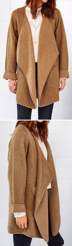 Clearly, you know that this cardi will keep you warm. Hot Sale, $34.99! Simple solid color can still reveal the your fashion vibe. Classic chic style comes for you.
