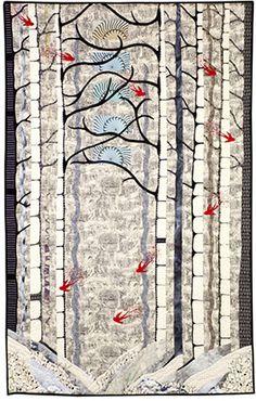 Red Bird Winter, Betty Lu Brydges, AQS Winner, 2011americanquilter.com