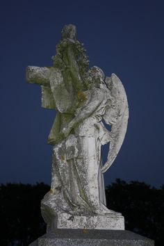 Angel at Dusk, Cemetery Monument, Newport, RI