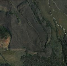 Lava flows around the great Mt. Shasta