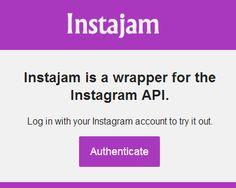 Instajam – JavaScript Wrapper for the Instagram API  #Instagram #API #javascript