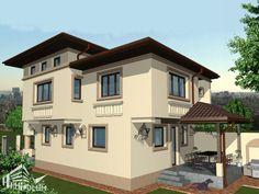 Case cu latimea de 7 metri - 3 proiecte generoase - Case practice Utila, House Plans, Modern Design, How To Plan, Houses, Contemporary Design, House Floor Plans, Home Plans