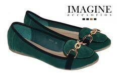 Bailarina mocasín verde y negro Imagine accesorios 26,99 €