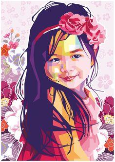 just a girl on Behance Pop Art Portraits, Portrait Art, Graphic Design Illustration, Illustration Art, Poster Color Painting, Abstract Face Art, Graffiti, Art Anime, Cool Art Drawings