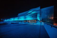 LIGHTS ON THE CHAMPIONSHIP WAVES: SIMES illuminates the brand new DANUBE ARENA in Budapest, the building that hosts the world swimming championship 2017. #simes #lighting #outdoor #light #architecture #lightingdesign #avenue #urbanlighting Light Architecture, Marina Bay Sands, Budapest, Lighting Design, Waves, Swimming, Urban, Lights, World
