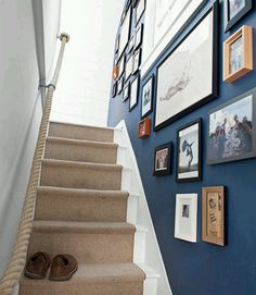 Rope banister, very coastal flair, love it!
