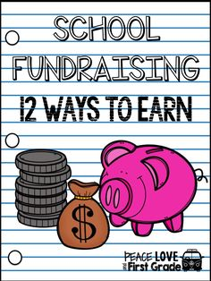 It's Laura from Peace, Love, and First Grade! I've put together some of the easiest ways to earn money for your classr. Fundraising Activities, Fundraising Events, Easy Fundraising, School Fundraising Ideas, Leadership Activities, Nonprofit Fundraising, Group Activities, Ways To Fundraise, Planning School