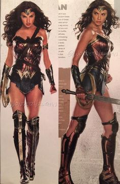 Wonder Woman (Gal Gadot) Looking forward to her movie. If I were an actress, this would be my dream role!