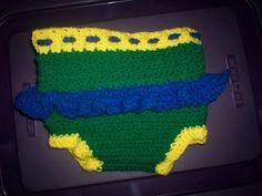 Diaper cover #crochet #baby #clothdiaper