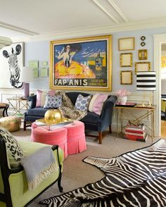 A sitting room stuffed to the brim with every piece of girly,... - The Foo Dog Ate My Homework