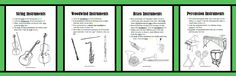 FUN worksheets for learning (or reinforcing) facts about the instrument families. CC Weeks 19-24