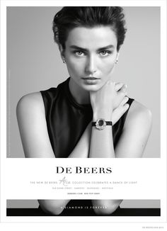 Andreea Diaconu Shines in De Beers Jewelry Ad Campaign