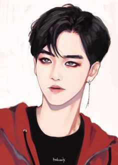 Find images and videos about exo and baekhyun on We Heart It - the app to get lost in what you love. Exo Anime, Chica Anime Manga, Anime Guys, Anime Art, Baekhyun Fanart, Fanart Bts, Suho Exo, K Pop, Art Harry Potter