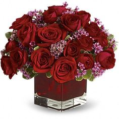 Order Never Let Go by Teleflora - 18 Red Roses from Chester's Flower Shop And Greenhouses, your local Utica florist. Send Never Let Go by Teleflora - 18 Red Roses for fresh and fast flower delivery throughout Utica, NY area. Types Of Flowers, Red Flowers, Red Roses, Rosen Arrangements, Floral Arrangements, Flower Arrangement, Romantic Flowers, Beautiful Flowers, Bridal Flowers