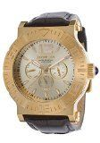 Men's Wrist Watches - Invicta MultiFunction Champagne Dial Black Leather Mens Watch 14916 -- Check out this great product.