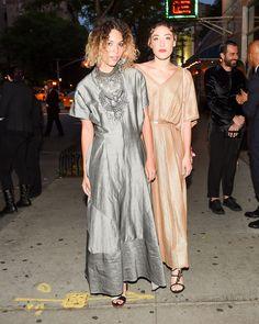 WHO: Cleo Wade and Mia Moretti in Salvatore Ferragamo WHERE: Gucci Supper Party WHEN: June 4, 2015