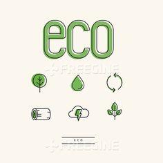 오브젝트, 자연, 날씨, 나무, 일러스트, 물, freegine, 환경, 라인, illust, 에코, 친환경, 번개, 아이콘, 통나무, 백터…