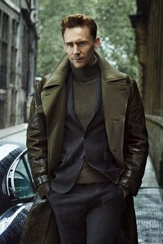 It's a leather jacket, but it's still pretty cool. Tom Hiddleston by Tomo Brejc for ES Magazine October 18, 2013