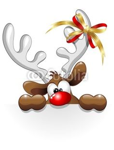 Renna Buffa Divertente Cartoon-Funny Reindeer Character