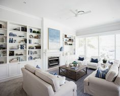 Looking for hamptons style interiors styling? Check out Hamptons Style today for inspiration. Hamptons Living Room, Hamptons Decor, The Hamptons, Living Room Decor, Hamptons House, Living Rooms, Living Spaces, Interior Decorating Styles, Home Decor Styles