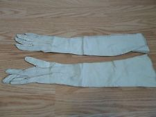 Antique Victorian Girls Long Leather Gloves