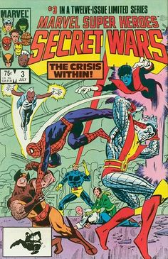 Marvel Super-Heroes Secret Wars (Jul Marvel) for sale online Marvel Secret Wars, Marvel 3, Marvel Series, Marvel Comics, Marvel Universe, Comic Book Panels, Comic Book Covers, Comic Book Heroes, Comic Books Art