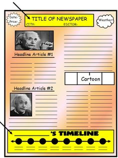 Book Report ideas are complete with this FREE Book Report Flip     Pinterest Biography Newspaper Book Report Template
