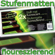 2er-Set fluoreszierende Matte Stufenmatte Leuchtmatte Gummimatte Stufenauflage in Möbel & Wohnen, Teppiche & Teppichböden, Stufenmatten | eBay