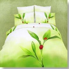 Light Green Color with Ladybug Print Duvet Cover 4 Piece Bedding Sets Cheap Bedding Sets, Cheap Bed Sheets, Best Bedding Sets, Bedding Sets Online, Queen Bedding Sets, King Comforter Sets, Luxury Bedding Sets, Girls Duvet Covers, Bed Cover Sets