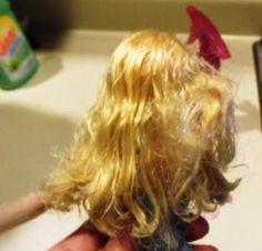 How to De-tangle a Barbie's Hair