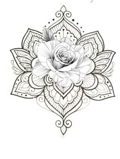 White background Tattoo for man and woman Mandala Tattoo – Fashion Tattoos Rose Tattoos, Body Art Tattoos, New Tattoos, Tattoos For Guys, Tattoos For Women, Sleeve Tattoos, Henna Tattoos, Paisley Tattoos, Tatoos