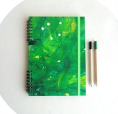 """Notebook """"Green like a spring""""."""