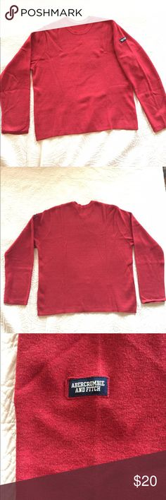 Abercrombie and Fitch Cotton/Wool Sweater 80% cotton/20% wool sweater. Used but in excellent condition....no stains, holes, or tears. Inside tag came off when being dry cleaned (sweater can be hand washed)...otherwise in like new condition. Abercrombie & Fitch Sweaters Crewneck