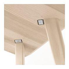 IKEA - LISABO, 書桌, , 獨特的紋理圖案,使每張桌子都是獨一無二桌面貼覆梣木貼皮,搭配實心樺木桌腳,可為居家佈置增添天然、溫暖的質感風格梣木為天然耐用材質,桌面經過防護塗層處理,可保留其天然實木質感每根桌腳只使用1個固定配件,容易組裝抽屜附防滑落裝置,可防止全開後掉落