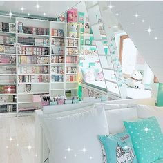 I must have a room to store all my Manga Anime Collectibles Movies Music Ga VSCO Room Ideas Anime Collectibles Manga Movies MUSIC room Store Study Room Decor, Room Setup, Bedroom Decor, Bedroom Ideas, My New Room, My Room, Girl Room, Cute Room Ideas, Cute Room Decor