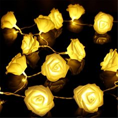 2M(6.6Ft) 20LED Bright Rose Flowers Battery Powered for Indoor Decor >>> See this great image  : Home Decorative Accessories