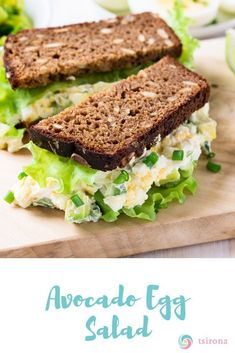 I have an easy, whole food recipe for Avocado Egg Salad that you and your family will love as a healthy lunch! Source by tsirona Delicious Crockpot Recipes, Heart Healthy Recipes, Gourmet Recipes, Soup Recipes, Whole Food Recipes, Cooking Recipes, Healthy Foods, Healthy Eats, Avocado Egg Salad