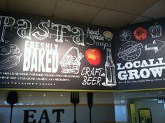 Souplantation chalkboard style wall graphics