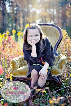 sweet girl in a field (plus I want a chair like this!)