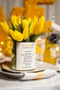 What a fun way to get a 2-4-1! Menu AND party favor...great for a luncheon setting!
