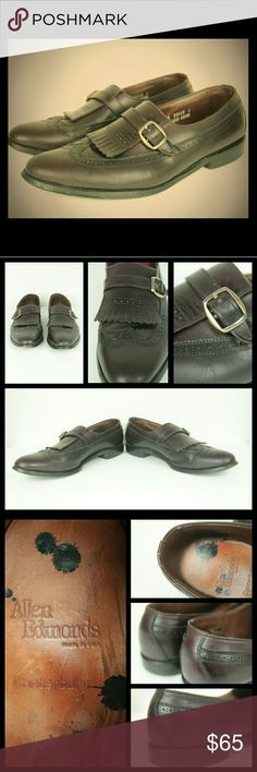 Allen Edmonds Canterbury Buckle Loafer Good used condition, minor scuffs and scratches from normal use, very tiny knick in back of left shoe, shoe polish drops on insole and sole, none on exterior of shoe Allen Edmonds Shoes Loafers & Slip-Ons